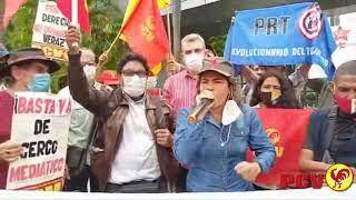 Plantón ante TELEVEN contra la censura mediática hacia candidatas y candidatos de la APR-PCV