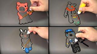 ROBLOX PIGGY JUMPSCARES PANCAKE ART - PIGGY, CLOWNY, BUNNY, POLEY