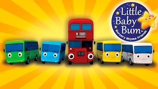 Wow! All the LBB buses together in one song! Learn to count from 1 to 10. Lots of bright colours with this catchy song!  Download this video now! https://bamazoo.com/p/ten-little-buses-from-little-baby-bum-official-release-13212  Download LBB videos  https://bamazoo.com/littlebabybum Plush Toys: http://littlebabybum.com/shop/plush-toys/ © El Bebe Productions Limited  One little, Two little, Three little buses Four little, Five little, Six little buses Seven little, Eight little, nine little buses. Ten little buses!