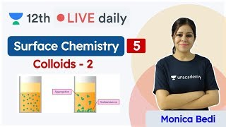 CBSE Class 12: Surface Chemistry L5 | Colloids | Chemistry | Unacademy Class 11 & 12 | Monica - Download this Video in MP3, M4A, WEBM, MP4, 3GP