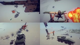 Fighter Plane Vs Armored Fighting Vehicle | Besiege