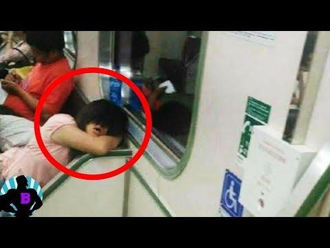 6 странных событий, произошедших в  метро, заснятых камерами! видео