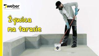 Żywica z piaskiem kwarcowym na tarasie. Układanie żywicy na tarasie krok po kroku.