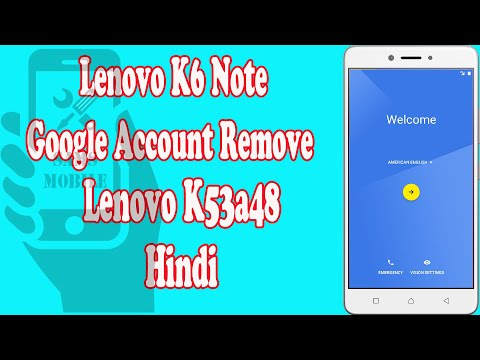 Lenovo K6 K53a48 FRP bypass | Android 7 0,7 1 or 8 0 Tool (2019