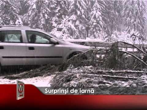 Surprinşi de iarnă