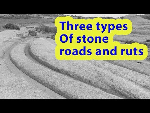 The global network of Neogene roads: three types of petrified ruts and roads