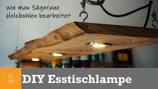 DIY Designer Lampe // Esstischlampe aus massiver Eiche selber machen