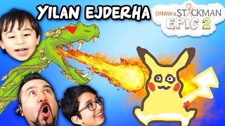 YILAN EJDERHA vs PİKAÇU! | Draw a Stickman: EPIC 2 #4