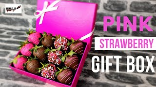 DIY GIFT BOX - PINK CHOCOLATE STRAWBERRIES