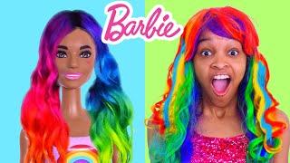 Shasha's BARBIE COLOR REVEAL DOLLS MAKEOVER SURPRISE! - Onyx Kids