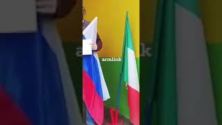 Итальянец снял флаг Евросоюза и поставил флаг России