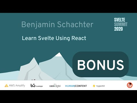 Image thumbnail for talk Learn Svelte Using React