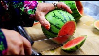 시원한 애플 수박 통쥬스 / Watermelon Juice / Apple Watermelon /Korean Street Food