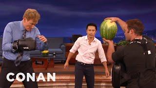 Steven Ho Takes Conan Back To Basics  - CONAN on TBS - Video Youtube