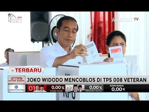Jokowi Nyoblos di TPS 08 Gambir