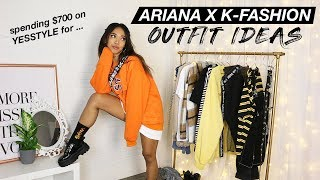 Ariana Grande X K-Fashion Inspired Outfit Ideas! (aka I Spent $700 On YesStyle) | Nava Rose