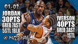 Michael Jordan vs Allen Iverson Highlights (2001.11.28) - 70pts Total! MJ Shows Who's Boss!