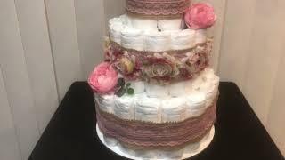 Rustic Girl Diaper Cake