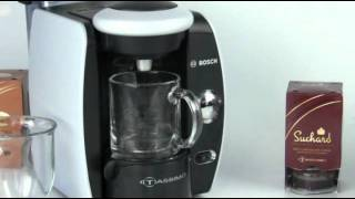 Making A Chocolate With Tassimo Coffee Brewer