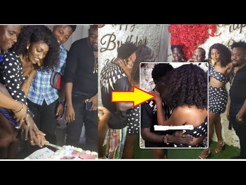 Eii! Wendy Shay and Kuami Eugene ''Kissed' at her Surprised Birthday Party