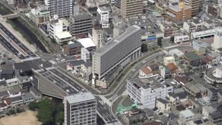 高尾ビル(姫路モノレール 大将軍駅) 空撮【無編集版】