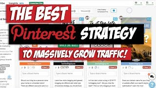 My Pinterest Marketing Strategy for 2018 & 2019 - CRAZY Traffic Growth!!!