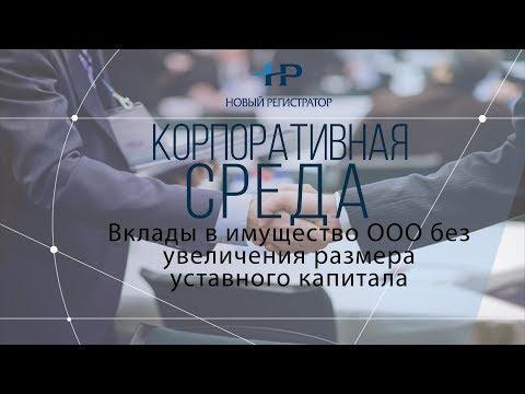 Вклады в имущество ООО без увеличения размера уставного капитала