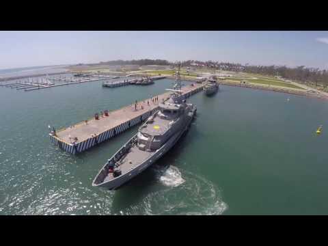 Inauguración de la Marina de la Heroica Escuela Naval Militar en Veracruz