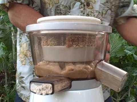 Making Brazil Nut and Sesame Seed Butter in the Omega VERT VRT330 Juicer