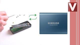 DIY M2 SSD im externen USB-C Gehäuse, besser als Samsung T5, Tutorial - Venix
