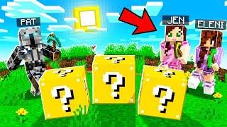 Minecraft: LUCKY BLOCK HUNGER GAMES VS JEN & ELENI! - Modded Mini-Game