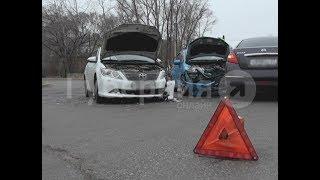 Невнимательность водителя «Хонды» привела к столкновению трех машин в Хабаровске. Mestoprotv