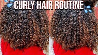 Curly Hair Routine | 3c/4a Natural Hair