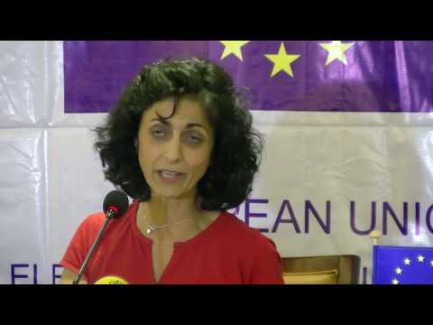 EU EOM Liberia Chief Observer Maria Arena presents the preliminary report in Monrovia Liberia - part 2