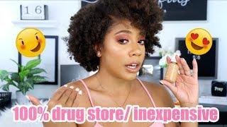 100% DRUG STORE/Pocket Friendly Makeup Tutorial | COLOUR POP REVIEW