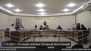 15ª SESSÃO ORDINÁRIA CÂMARA DE NOVA GRANADA