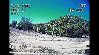 FPV race: second time with gates, first time flying this track.