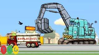 Xe Xúc Đất, Xe Tải Phá Đá - Explosive Demolition Truck, Excavator | TopKidsGames (TKG)