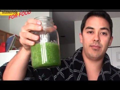 Video Green Juice Recipe with a Blender- BenjiManTV