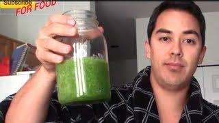 Green Juice Recipe with a Blender- BenjiManTV