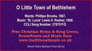 O Little Town Of Bethlehem - Christmas Carols Lyrics & Music(v2)