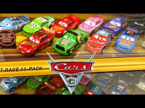 DISNEY PIXAR CARS 3 MOVIE DESERT RACE 11 PACK LEAK NEW DIECAST SMOKEY STORY SET TALKING LIGHTNING