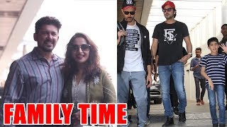 Family time for Madhuri Dixit and Hrithik Roshan