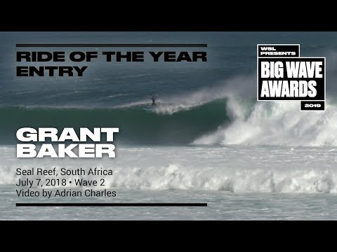 Grant Baker at Seal Reef 2 - 2019 Ride of the Year Entry - WSL Big Wave Awards