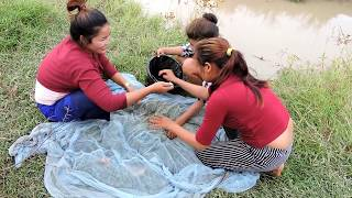 Amazing Fishing at Pailin Province - Cambodia Traditional Fishing - Khmer  Net Fishing (Part 317)