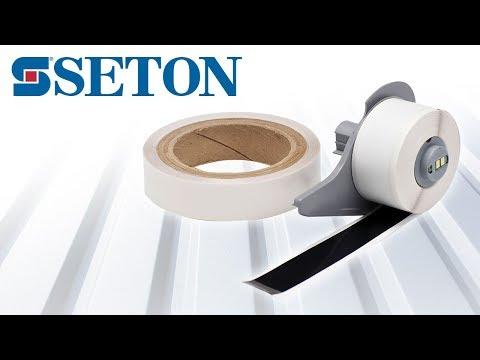 Démonstration d'édition et de pose de l'étiquette de marquage au sol Toughstripe™ par Seton