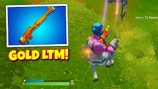 Using *GOLD VAULTED WEAPONS* in Fortnite... (BEST LTM)
