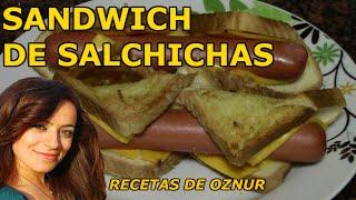 SANDWICH DE SALCHICHAS DIVERTIDO | recetas de cocina faciles rapidas y economicas de hacer - comidas