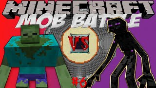 "Mutant zombie vs Mutant enderman Битва мобов в Minecraft! ""Mob Battle"""