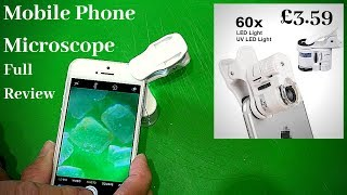 Turn your iphone or smart phone into a powerful microscope. REALLY WORKS !